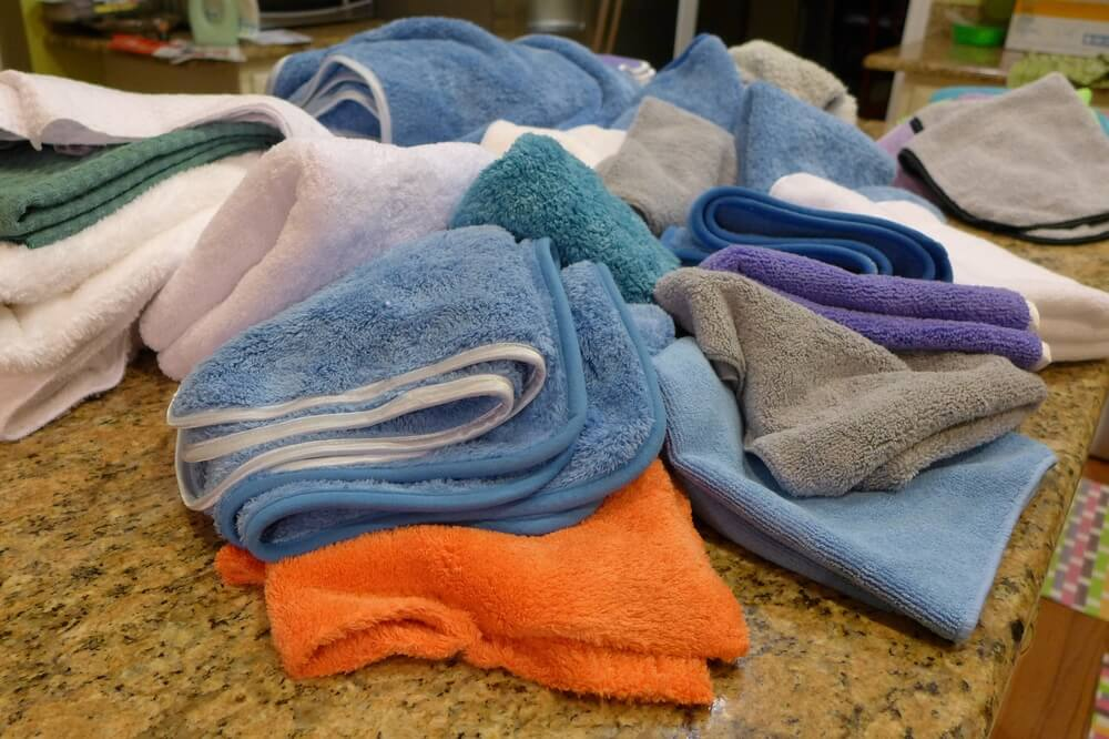 Pile of Car Detailing Towels