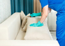 image of woman cleaning furniture for the best upholstery cleaner reviews and buying guide