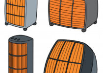 set of portable space heaters