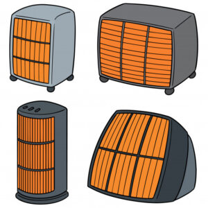 set of portable heaters image for the best space heater reviews and buying guide