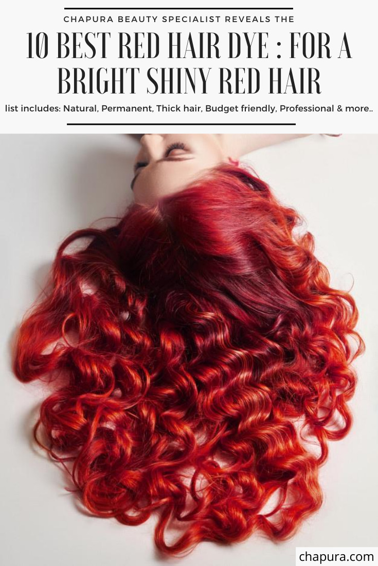 creative image of a bright shiny red hair coloring on a woman for the best red hair dye reviews and buying guide
