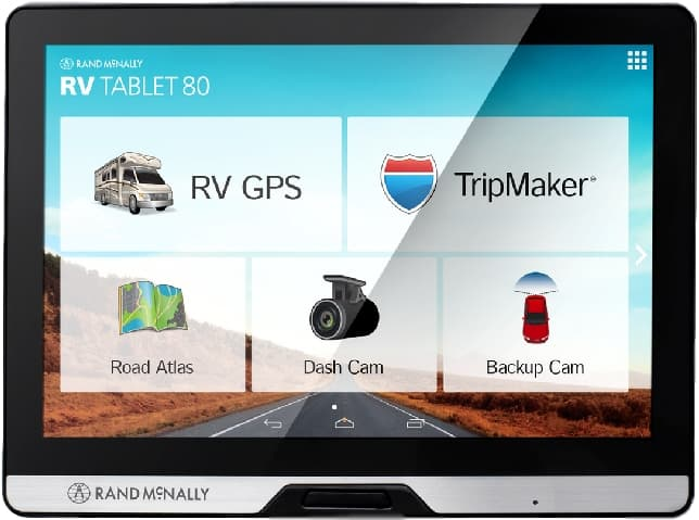 image of Rand McNally RV Tablet 80 GPS system